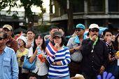 Bangkok - November 11 : The Democrats Are On The March At Democracy Monument, In Bangkok, Thailand