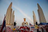 Bangkok - November 11 : The Democrats Are On The March At Democracy Monument In Bangkok, Thailand