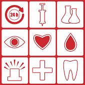 Icons For The Hospital.set Of Medical Icons.vector
