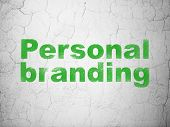Marketing concept: Personal Branding on wall background