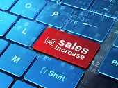 Advertising concept: Growth Graph and Sales Increase