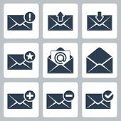 Vector Isolated Mail Icons Set