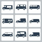 stock photo of camper-van  - Vector vans  - JPG