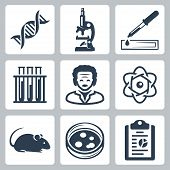 Vector Isolated Laboratory Icons Set