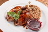 duck wings with cranberry sauce