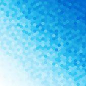 Blue Tones Hexagonal Honeycomb Abstract Background