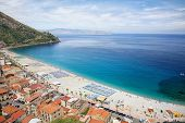 View on Scilla beach in Calabria, southern Italy
