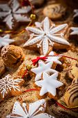 Assortment of Christmas cookies and gingerbread