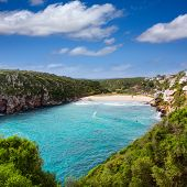 image of porter  - Cala en Porter beautiful beach in menorca at Balearic islands of spain - JPG