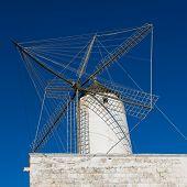 Ciutadella Es Moli des Compte windmill in Ciudadela Menorca at Balearic Islands