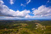 Menorca North aerial view from Pico del Toro in Balearic islands