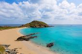 Menorca Cala Sa Mesquida Mao Mahon turquoise beach in Balearic islands