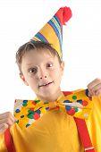 Astonished Clown Kid