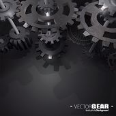 Vector Dark Gear background