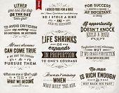 stock photo of saying  - Set of Quotes Typographical Posters - JPG