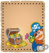 Pirate theme parchment 8 - eps10 vector illustration.