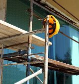 Helmet  On  Scaffold