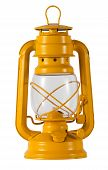 Yellow Metal Hurricane Lamp