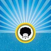 afro man with retro concept