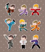 Cartoon Chinese Kung Fu Stickers