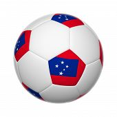 foto of samoa  - 3D Flags on soccer ball of Samoa - JPG