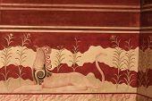 Minoan Palace Fresco