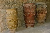 Antique Jars At Knossos