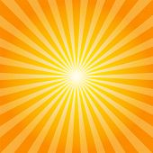 Orange rays texture background illustration