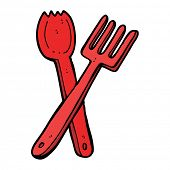 cartoon cutlery