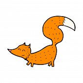 cartoon little fox