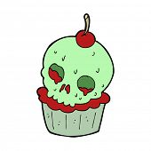 cartoon halloween cup cake