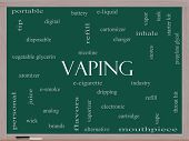Vaping Word Cloud Concept On A Blackboard