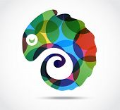Chameleon abstract Business icon . Infinite shape