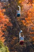 Ropeway at Lake Kawaguchiko in Japan