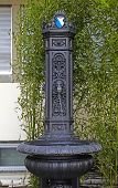 A Beautiful Small Cast-iron Fountain, Zurich, Switzerland.