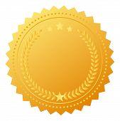 Blank award gold medal