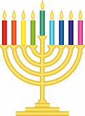Lámpara Channukah