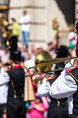 Brass Band In Uniform Performing