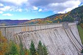 pic of hydroelectric  - Hydroelectric dam Bicaz on Bistrita river in Romania - JPG