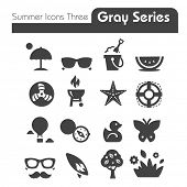 Summer Icons Two gray series Three