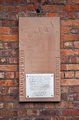 Plaque Commemorating The Meeting Of Lennon And Mccartney