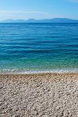 Pebble Beach Along Adriatic Sea