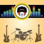 afro man listen music vector