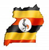 Uganda Flag Map