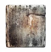 Grunge Wood Board Isolated On White