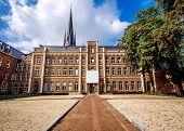 Exterior Of Basilica Located In Historic Centre Of Sittard. Limburg, Netherlands