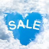 Sale Discount Concept Tell By Shy Cloud Nature