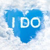 I Do Word On Blue Sky