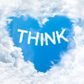 Think Word On Blue Sky