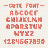 Simple colorful hand drawn font.